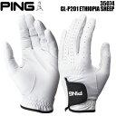 (ネコポス送料無料)ピンゴルフ PING GL-P201 天然皮革 ゴルフグローブ 35074 ETHIOPIA SHEEP