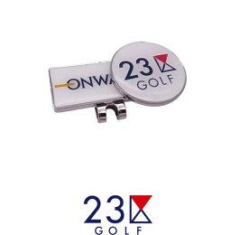 【New】23区GOLF×ONWARDコラボロゴクリップマーカー【ZZ1PBW-0851】【GOLFLINE】