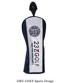 【New】23区ゴルフキャットハンドモデル フェアウェイ用ヘッドカバー【ZZ1PKW-0841 ホワイト/ネイビー】【GOLFLINE】【CSPT】by ONWARD KASHIYAMA