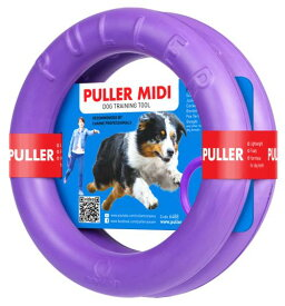 PULLER MIDI(中)プラー 中大型犬用 M サイズ 丈夫なおもちゃ リング 輪のおもちゃ 2個セット ドーナツ 犬のおもちゃ5000円(税抜)以上送料無料! /紫の輪っか