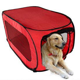 送料無料!大型犬用 折りたたみ ソフトケージ Lサイズ 軽量タイプ お出かけゲージ クレート