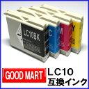 ◆送料無料◆【単品】 LC10 ブラザーインクカートリッジ互換 LC10-4PK【メール便送料無料!!】 【ポイント10倍】 bro…