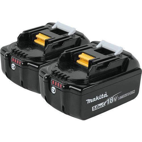 送料無料 純正 正規品 マキタ バッテリー 18V BL1850B 2個セット! 電池残量インジケーター付き 5.0ah リチウムイオン BL1830 BL1840 BL1860 電動工具 DC18RC インパクト ドリル