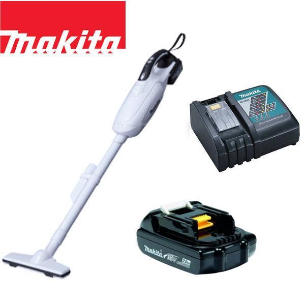 マキタ 18V コードレス 掃除機 カプセル式 CL181FDZW + バッテリー BL1820 + 急速充電器DC18RC 充電式 クリーナー リチウムイオンバッテリー CL181FDRFW