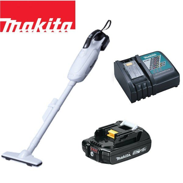 マキタ 18V コードレス 掃除機 カプセル式 CL181FDZW + バッテリー BL1820 + 急速充電器DC18RC 充電式 クリーナー リチウムイオンバッテリー CL181FDRFW コードレス掃除機