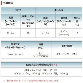 MAKITAマキタ14.4VブロワUB142掃除機集塵BL1430B