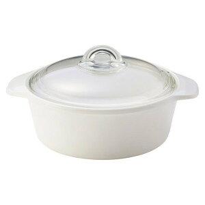 【送料無料】 Luminarc VITRO ヴィトロ ブルーミング ホワイト 両手鍋 2L IH H5608IHB 強化ガラス 蓋付き 食洗器可 引越し祝い 新居祝い ギフト 贈り物にもおすすめ