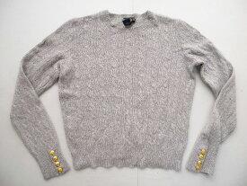美品!■ラルフラグビーカシミア混袖ボタンニットセーター(L)女性■返品不可■