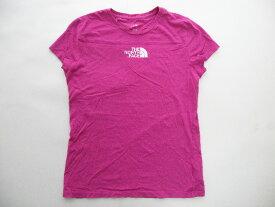 ■ノースフェイス半袖コットンロゴプリントTシャツ(M)ピンク女性■返品不可■