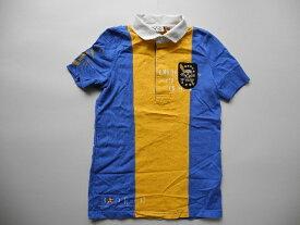 ラルフローレンラグビースカルパッチ付半袖ラガーシャツ(S)女性■返品不可■