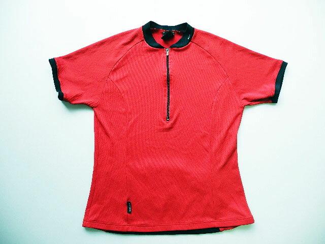 イタリア製■NIKE DRI-FIT1/2ジップ半袖サイクルTシャツ(L)女性
