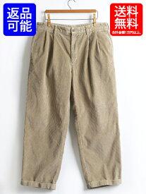 BrooksBrothers ■ ブルックスブラザーズ 中細畝 ツータック コーデュロイ パンツ( 男性 メンズ W35xL30 )古着 2タック USED スラックス  コーデュロイパンツ ベージュ 中古 ゆったり 太畝 SLACKS PANTS