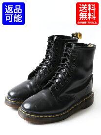 オールド 英国製 ■ Dr.Martens ドクターマーチン 8ホール ブーツ ( UK4 23cm ) ブラック 黒 靴 革靴 イングランド製 中古 レディース USED  【US古着】中古 ENGLAND製 レディース メンズ 8HOLE 本革ブーツ