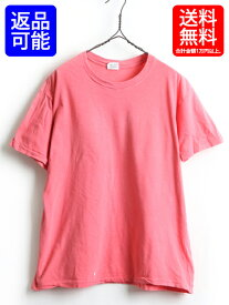90's USA製 ■ Calvin Klein カルバン クライン 無地 クルーネック 半袖 Tシャツ ( メンズ レディース XL ) 古着 ピンク ビッグシルエット| 【USA古着】 中古 90年代 アメリカ製 トップス 無地Tシャツ ゆったり ビッグTシャツ カルバンクライン 男女兼用 半袖Tシャツ