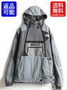 ■ ノースフェイス STEEP TECH スティープテック フルジップ フード パーカー ジャケット ( 男性 メンズ L ) 古着 The North Face グレー| 【古着】中古 スウェット