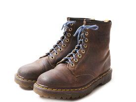 英国製 ■ Dr.Martens ドクターマーチン 8ホール ブーツ ( メンズ レディース UK7 26cm ) 靴 革靴 イングランド製 オイルド レザー 茶 茶色| 【US古着】中古 ENGLAND製 8HOLE 本革ブーツ 8EYE BOOT ブラウン オールド レザーブーツ