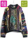 90's オーストラリア製 大きいサイズ XL ■ COOGI クージー 3D 立体編み コットン ニット セーター ( メンズ ) 古着 9…