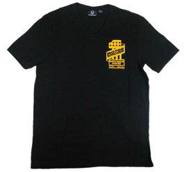 MOTORBRIGADE/モーターブリゲード「HERITAGE ONE」 メンズ 半袖 V-NECK Tシャツ アメカジ バイカー BLACK