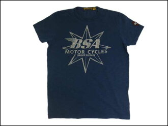 JOHNSON MOTORS / Johnson Motors T shirt BSA star dead Navy
