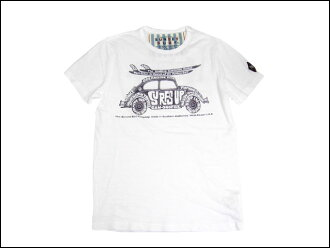 "SUNSET SURF and Sunset surf T shirt ""sunset bag"" optic white by Johnson Motors /JOHNSON MOTORS"