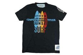 SUNSET SURF サンセットサーフ メンズ 半袖 Tシャツ「1968 サーフコンペティション」ヴィンテージブラックBY ジョンソンモータース アメカジ バイカー あす楽