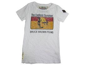 "BRUCE BROWN FILM by JOHNSON MOTORS ENDLESS SUMMER TEE ""ENDLESS SUMMER "" オプティックホワイト レディース ジョンソンモータース Tシャツ アメカジ バイカー"