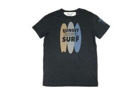 SUNSET SURF サンセットサーフ メンズ 半袖 Tシャツ「サーフボード」ヴィンテージブラック あす楽 ジョンソンモータース JOHNSON MOTORS アメカジ バイカー