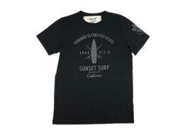 SUNSET SURF サンセットサーフ メンズ 半袖 Tシャツ「アルティメイテッドドッグス」ヴィンテージブラック あす楽 ジョンソンモータース JOHNSON MOTORS アメカジ バイカー