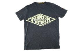 JOHNSON MOTORS ジョンソンモータース メンズ 半袖 Tシャツ 「ダイヤモンドTM」 ガンシップグレー あす楽 ジョンソン・モータース アメカジ バイカー