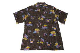 KONA BAY HAWAII コナベイハワイ S/S アロハシャツ 「ドット」ブラウン あす楽 ハワイアンシャツ