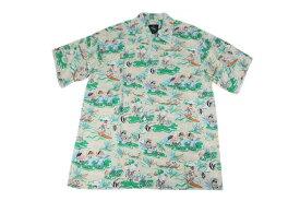 KONA BAY HAWAII コナベイハワイ S/S アロハシャツ 「ビッグアイランド」ベージュ あす楽 ハワイアンシャツ