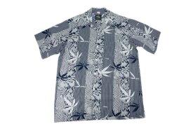 KONA BAY HAWAII コナベイハワイ S/S アロハシャツ 「バンブー」ネイビー あす楽 ハワイアンシャツ