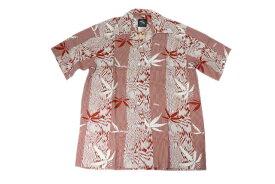 KONA BAY HAWAII コナベイハワイ S/S アロハシャツ 「バンブー」レッド あす楽 ハワイアンシャツ
