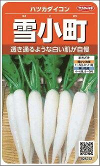 野菜種はつかだいこん雪小町サカタ交配