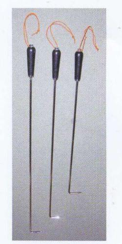 農業資材 杭ぬきフック棒まっすぐの直タイプ75cm
