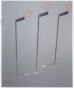 農業資材 杭ぬきフック棒テコのタイプ75cm
