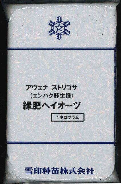 緑肥エンバク ヘイオーツ 1kg雪印種苗株式会社