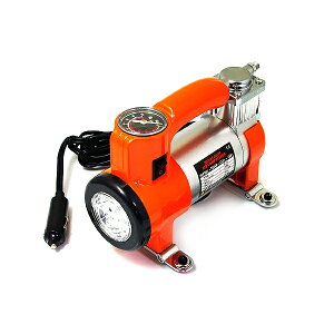 【送料無料】 LEDライト付き 小型 エアーコンプレッサー DC12V ポータブル コンパクト 車 空気入れ エアコンプレッサー ミニ カー用品 作業灯