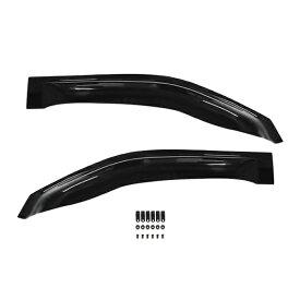 【送料無料】 サイドドアバイザー キャラバン E26 NV350 日産 H24.6〜 ブラック 黒 【サイドバイザー 雨よけ 雨除け 外装 オプション 純正同型 フロント リア 純正タイプ ワイドタイプ フルセット 単品 多種類取扱有ります】