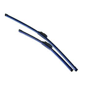 新色 ブルー 青 エアロワイパー 2本セット 自由選択式 350mm、400mm、425mm、450mm、475mm、500mm、550mm、600mm、650mm ワイパーブレード 【左右セット 純正交換式 U字フック エアロブレード 雨よけ ワイパーゴム フロント リア ガラス 交換 補修】