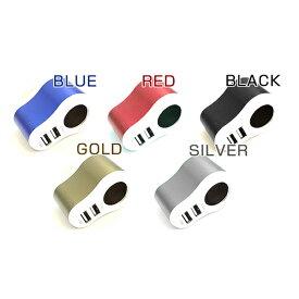 24V 12V 両方対応 シガーソケット USBポート2個内蔵 2ポート シガーライターソケット ゴールド ブラック シルバー レッド ブルー 電源取出し 電源増設 ETC配線取り