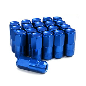 鍛造アルミホイールナット P1.5 M12 ブルー 青 袋 20個セット トヨタ ホンダ マツダ 三菱 ダイハツ ホイールナット アルミナット レーシングナット