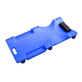 低床 クリーパー ブルー 6輪タイプ メカニッククリーパー 自動車 メンテナンス 作業用 フォールディングクリーパー 寝板カート サービスクリーパー キャスター付き