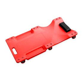 低床 クリーパー レッド 6輪タイプ メカニッククリーパー 自動車 メンテナンス 作業用 フォールディングクリーパー 寝板カート サービスクリーパー キャスター付き