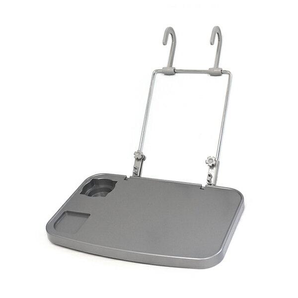 汎用 後付け 車載テーブル 折り畳みテーブル グレー 灰色 高さ調整 角度調整 可能 ドリンクホルダー付き パソコン作業に 簡単取付