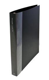 雑誌切り抜き マガジン クリア ファイル A4変形ワイド 30穴リング 黒