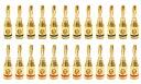 【送料無料】【アウトレットロット】バナナプラグ 24k金メッキ 24本セット(12ペア) GWBP01-24-O
