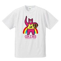 バスケットボールTシャツ「グリンベア:ピンクま!」バスケTシャツバスケウェアバスケットボールウェアミニバスジュニアグリンファクトリー