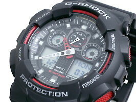 【CASIO/G-shock】【送料無料/あす楽対応】カシオCASIOG-SHOCKGショックジーショック腕時計メンズGA-100-1A4デジアナブラック×レッドうでどけい