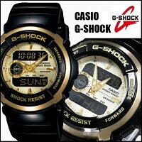 【国内正規品/送料無料】【CASIO/G-SHOCK】【カシオ/Gショック】【G-SPIKE/Gスパイク】【トレジャーゴールド】腕時計うでどけいメンズmen'sレディースLadie'sデジタルブラックxゴールドアナログデジタルアナデジデジアナコンビネーションG-300G-9AJF